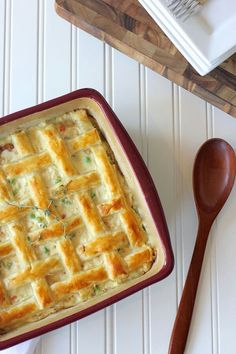 """~CHICKEN POT PIE~ Author:Lovely Little Kitchen **Ingredients**  4 tablespoons butter●  1/4 cup onion, chopped●  1/4 cup celery, chopped●  1/4 cup carrot, chopped●  1/4 teaspoon salt●  2 tablespoons flour●  2 cups milk●  1/2 cup heavy cream●  1 teaspoon """"Better Than Bouillon """" chicken base●  2 cups chicken, cooked and chopped●  1/2 cup frozen peas●  1/2 teaspoon fresh thyme plus more for garnish if desired●  1 sheet frozen puff pastry●  1 egg.  **Directions**  Allow puff pastry to thaw at…"""
