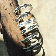 Tribal Jewelry Handmade Bracelets Evans Hand Carved Mid Century Meval