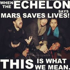 Mars being funny :D Thirty Seconds, 30 Seconds, A Beautiful Lie, Life On Mars, Shannon Leto, My Mood, Jared Leto, Music Is Life, Cool Bands