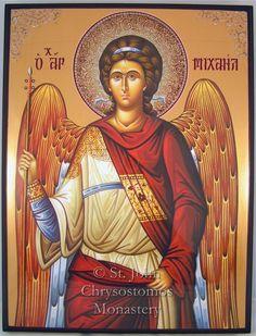igen igazából Szent Mihály arkangyal nálunk Római katolikusoknál kicsit harsányabbak a Szentképek de ezek az orhodox felekezetű képek nagyon szépek