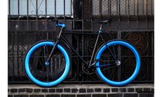 Black and Blue Fixie, Fixies, Fixie Bikes | AeroFix Cycles Edge | LA Fixed