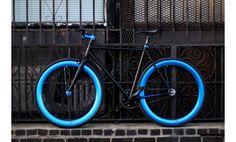 Black and Blue Fixie, Fixies, Fixie Bikes | AeroFix Cycles Edge | LA Fixed