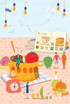 산그림 작가의 개인 갤러리 입니다. Rabbit Illustration, People Illustration, Illustration Sketches, Illustrations And Posters, Kids Graphic Design, Drawing School, Cute Pastel Wallpaper, Kawaii Doodles, Graphic Wallpaper