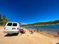 Playing on the Beach at Navajo Lake | UTAWESOME Sup Fishing, Lava Flow, Bike Trails, Canoe, Navajo, Kayaking, Utah, Hiking, Swimming