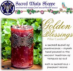 Fill Your Space with Golden Blessings! | New Chakra Stones + Candles - pagan wiccan witchcraft magick ritual supplies