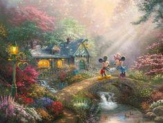 Disney Mickey and Minnie – Sweetheart Bridge – Limited Edition Art