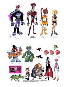 Teen Titans TV Show character sheet | fontes cartoon concept design derrick wyatt deviantart titanstower