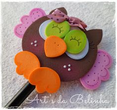 Kids Crafts, Foam Crafts, Diy And Crafts, Arts And Crafts, Paper Crafts, Diy Y Manualidades, Felt Owls, Tatting Jewelry, General Crafts