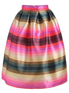Striped Flare Skirt 22.33