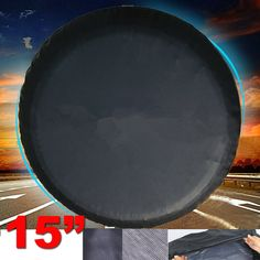 """US 15/"""" black Spare Wheel Tire Cover//Covers Fit For All Car Universal 28/""""-29/"""""""