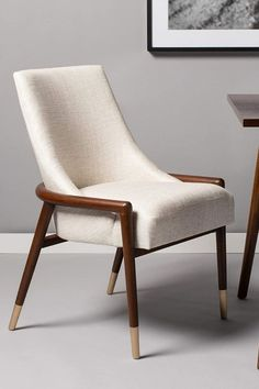 Cream Accent Chair, Accent Chairs For Living Room, Dining Chairs, Mid Century, House Design, Furniture, Home Decor, Decoration Home, Room Decor
