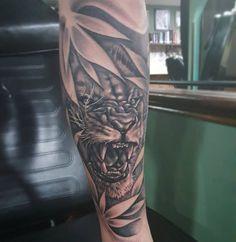 "dermaldelights_tattoo: ""One from yesterday! Cheers Scott #tattoo #tattoos #blackandgreytattoo #liontattoo #liontattoos #lion #pooletattoo #bournemouthtattoo #dorsettattoo #uktattoo"""