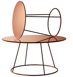 So much Stockholm furniture fair goodness on Yellow Trace. Copper Breeze Table by Monica Förster for Swedese