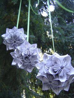Three Vintage Sheet Music KUSUDAMA Balls. Wedding by TreeTownPaper, $50.00    ----    Make myself for the flower girls??