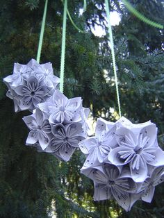 Three Vintage Sheet Music KUSUDAMA Balls. Wedding by TreeTownPaper, $50.00    ----    Make myself for the flower girls??