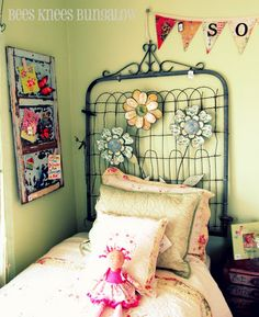 use old gates as headboard