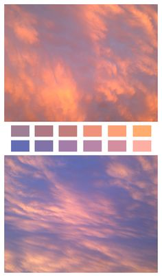 Sunset colors, by Natural Palettes