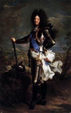 Louis XIV, Roi de France et de Navarre (1638-1715); H. Rigaud, 1701.