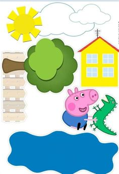 Bolo George Pig, Peppa E George, George Pig Party, Peppa Pig Bag, Peppa Pig Pinata, Cumple Peppa Pig, Pippa Pig, Pig Birthday Cakes, Pig Crafts