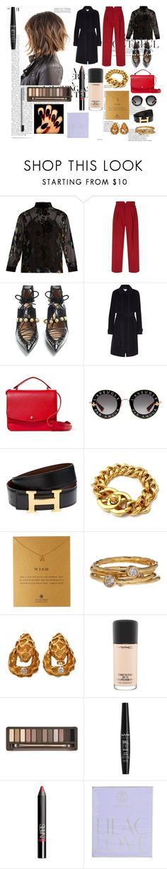 """Wish."" by it-srabina ❤ liked on Polyvore featuring MASSCOB, RED Valentino, Rue St., Carven, Elizabeth and James, Gucci, Hermès, Chanel, Dogeared and Gorjana"