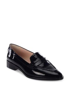 L.K. Bennett Iona Patent Leather Penny Loafers