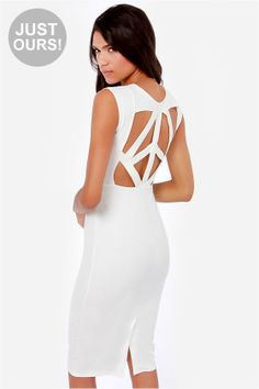LULUS Exclusive Pretty Committee Backless Ivory Dress at LuLus.com!
