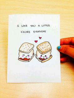 Funny love card, cute anniversary card, cute love card, I love you a little…