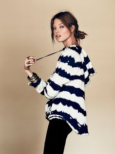 Tie Dye Stripe Hoodie http://www.freepeople.co.uk/whats-new/tie-dye-stripe-hoodie/