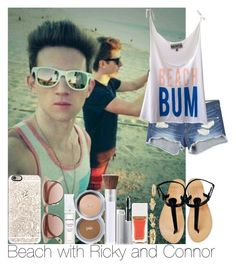 """Beach with Ricky and Connor"" by irish26-1 ❤ liked on Polyvore featuring Tom Ford, rag & bone, Wildfox, Casetify, PurMinerals, Witchery and Charlotte Russe"