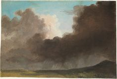 Stormy Sky  Pierre Henri de Valenciennes or Circle  (French, 1750–1819) - Oil on paper.