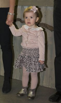 Princess Estelle of Sweden at the Aquarium Skansen during frogs exhibition with her mother Crown Princess Victoria, 16.04.14 in Stockholm