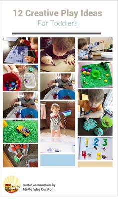 12 creative play ideas for toddlers from Plain Vanilla Mom