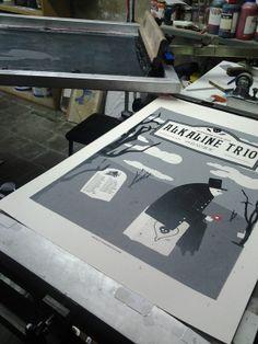 Alkaline Trio/Bayside poster de gira 12