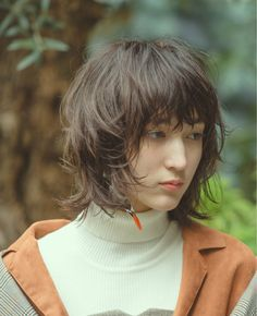 Pin on ボブ ヘアー (Bobbed hair) Pin on ボブ ヘアー (Bobbed hair) Haircuts For Fine Hair, Hairstyles With Bangs, Straight Hairstyles, Cool Hairstyles, Short Choppy Hair, Short Straight Hair, Long Hair Cuts, Medium Long Hair, Medium Hair Styles