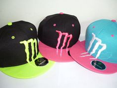 MULTI COLOR Choice MONSTER Energy M Snapback Cap Hat