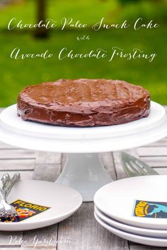 Avocado Chocolate Frosting:: Paleo Spirit Paleo chocolate cake and avocado chocolate frosting that tastes like chocolate alone...Paleo autoimmune  diet.