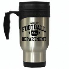 Football Department travel mug by Spirit Shop