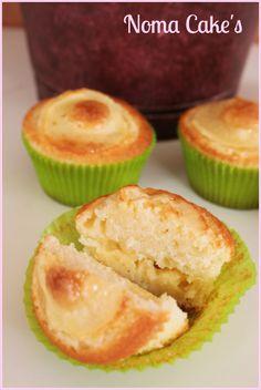 magdalenas manzana crema pastelera