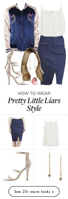 """""""Hanna Marin 5-years-forward inspired outfit with requested jacket"""" by liarsstyle on Polyvore featuring Be Girl Clothing, Uniqlo, Charlotte Russe, Sparkling Sage, NARS Cosmetics, hanna and 5yf"""