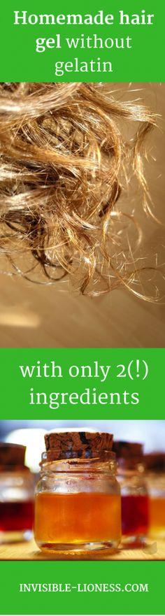 A homemade hair gel recipe without gelatin, homemade hair gel DIY, homemade hair gel for curly hair
