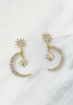 Gold Moon & Star Rhinestone Pendant Earrings Gold Moon & Star Rhinestone Pendant Earrings The post Gold Moon & Star Rhinestone Pendant Earrings appeared first on Ohrringe ideen. Cute Jewelry, Gold Jewelry, Jewelry Accessories, Jewelry Necklaces, Women Jewelry, Gold Bracelets, Jewelry Ideas, Jewlery, Jewelry Holder