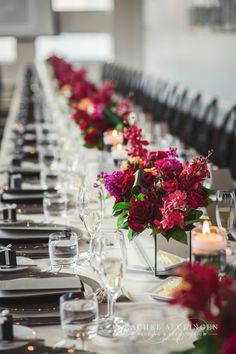 Vibrant Florals and Cityscape Views Mark this Stunning Malaparte Wedding - WedLuxe Magazine Centerpiece Decorations, Floral Centerpieces, Table Centerpieces, Wedding Centerpieces, Wedding Table, Wedding Decorations, Luxe Wedding, Floral Wedding, Wedding Flowers