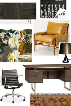 Room Inspiration:  An Updated Mid-Century Office