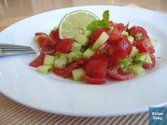 Izraelský salát s mátou / israeli salad with mint (only 5 ingredients)