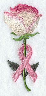 Awareness Ribbon Embroidery Pattern   Machine Embroidery Designs at Embroidery Library! - Awareness Rose