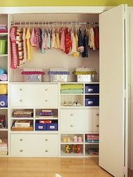 Kids bedroom closets. Their closet is a disaster.  This is amazing!!