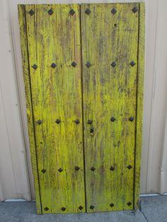Antique Pair Mexican Old Doors-Primitive-Rustic-42x79-Headboard-Gorgeous- & Antique Pair Mexican Old-Vintage-Primitive-Rustic-Wood-45x79-Barn ...