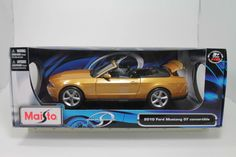 Maisto 2010 Ford Mustang GT Convertable 1:18 Scale Die Cast Model Car NIB #Maisto #Ford