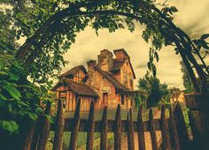 This beautiful little country home sits in the meadows and gardens of Versailles. I've taken a few photos around this estate, and I really like this arch with the ivy. It made me want to have an arch with ivy at my own house! - Versaillies, France - Photo from #treyratcliff Trey Ratcliff at http://www.StuckInCustoms.com