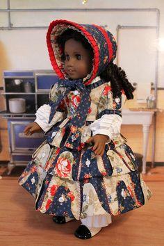 1850's Dress, Bonnet, Chemise and Pantalettes by BabiesArtUs on Etsy, $215.00